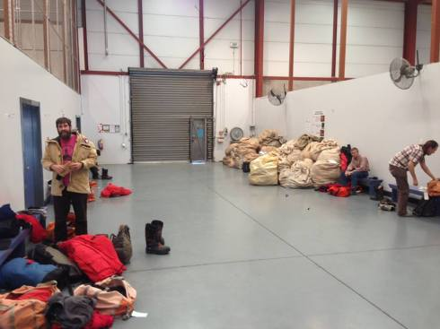 ECW at the CDC (Extreme Cold Weather gear at the Clothing Distribution Center in Christchurch