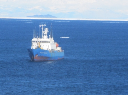 MV Akademik in McMurdo Sound