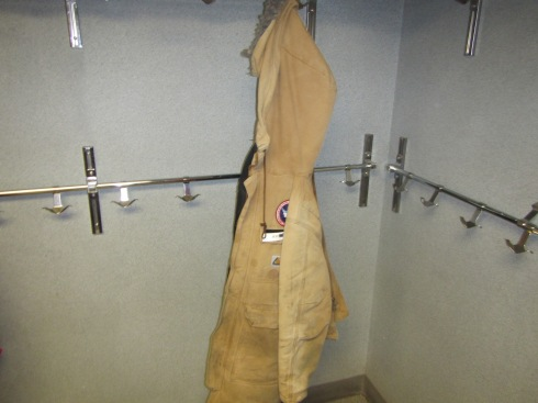 I hang my coat on the same hook everyday.  There are usually a lot more coats than this in the coat room.