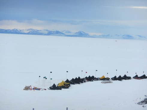 McMurdo's fleet of snowmobiles