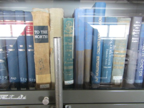 Part of the library collection in Crary Lab