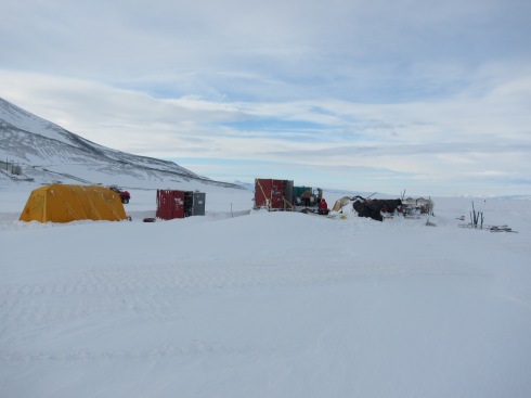 Our temporary drill camp staged until we finish repairs and testing.