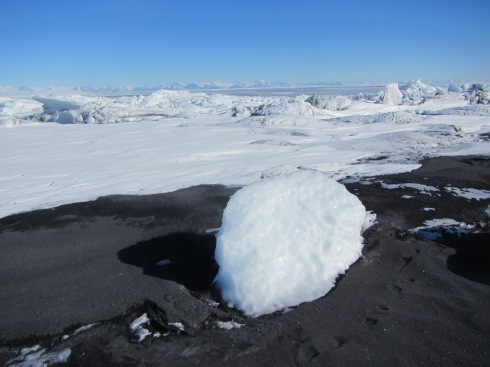 Volcanic black sand beach