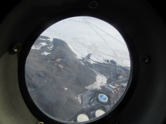 Flying over McMurdo